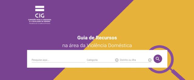 Disponível nova versão do Guia de Recursos de apoio a vítimas de violência doméstica