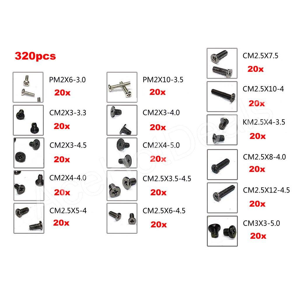 320 Laptop Screws Set Hp Ibm Toshiba Sony Dell