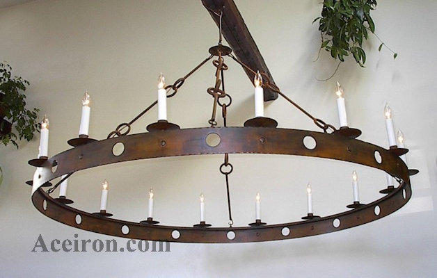 Ace Wrought Iron Custom Large Chandeliers Hand Forged By Clayton J Bryant