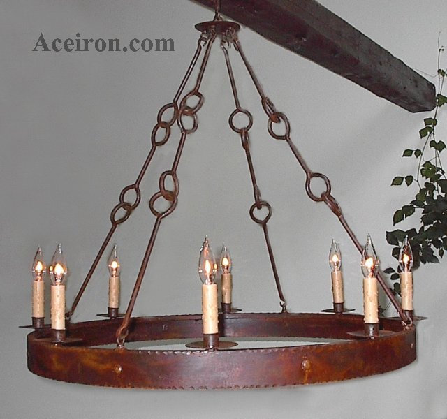 Ace Wrought Iron Custom Large Wrought Iron Chandeliers