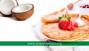 Receta para hacer Crepes con Aceite de Coco