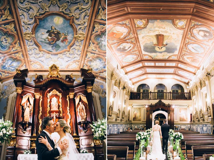 Altar de casamento no Religioso