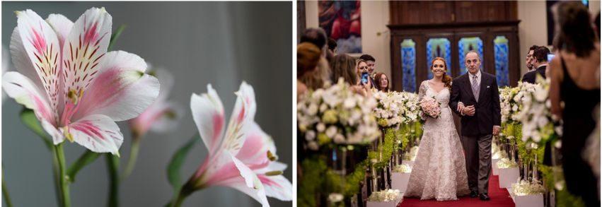 Flores na Decoração de casamento na Igreja