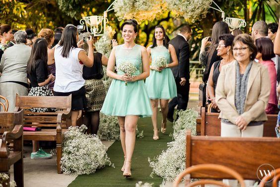 vestido de madrinha verde agua