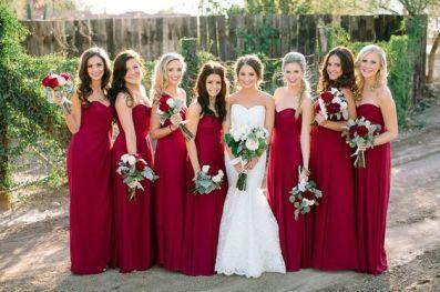 madrinhas de casamento de vermelho