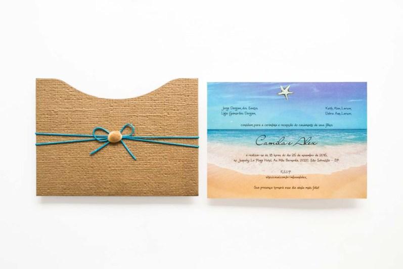 Convites de casamento - brasil convites modelo Santos