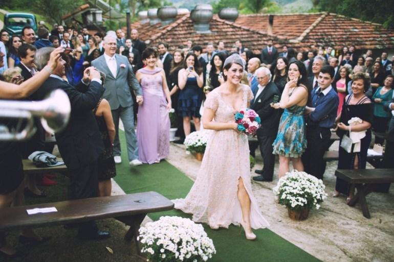 Vestido de noiva campestre diferente