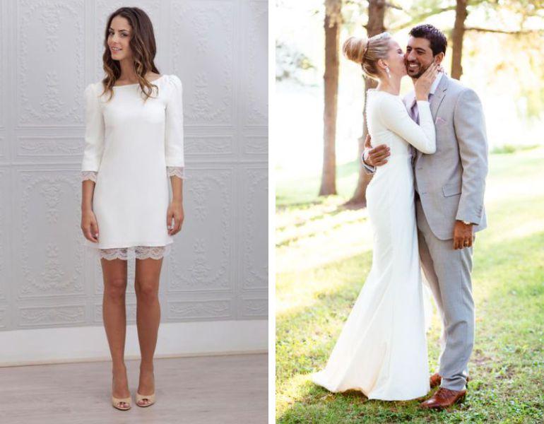Vestido de noivado branco