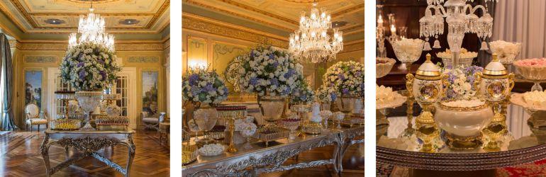 Decoração da recepção dos convidados
