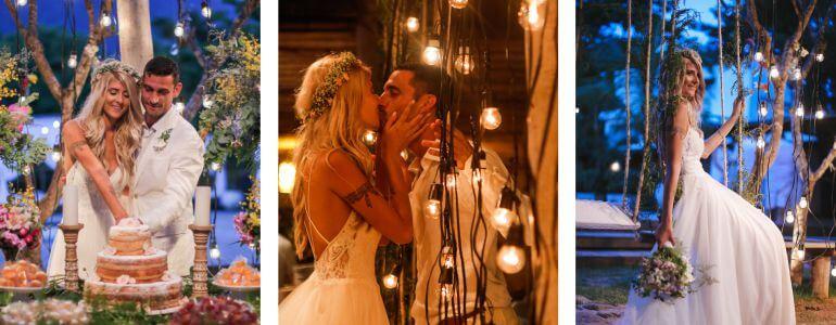 Varal de Luzes Casamento