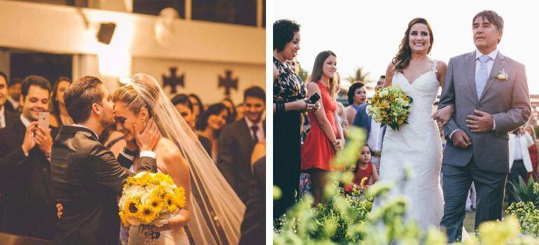 Buquê de noiva amarelo