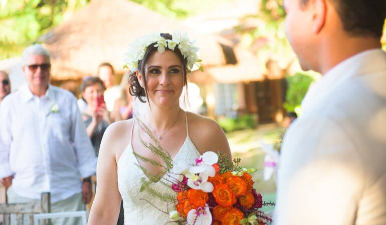 Buquê de noiva morena