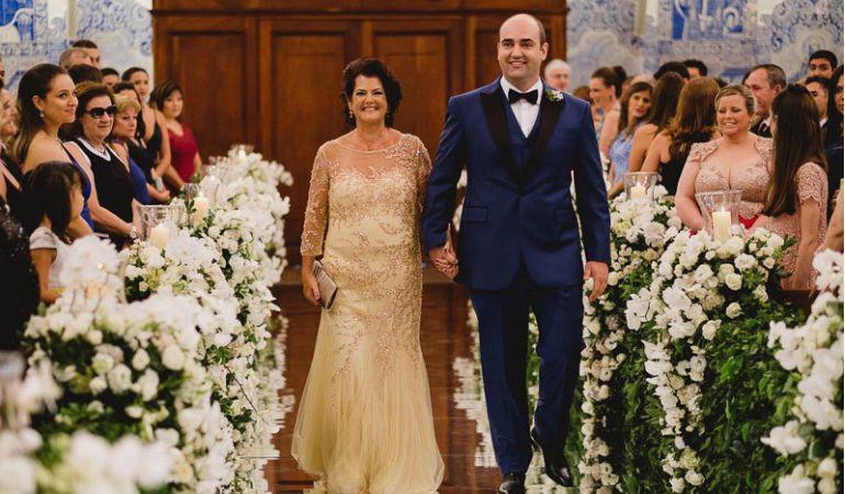 Vestido para mãe do noivo casamento à noite