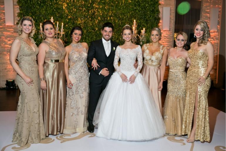 Madrinhas de Casamento - Dourado