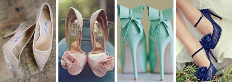 Sapatos para buquê colorido