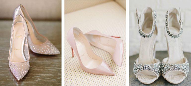 Sapato nude e prata