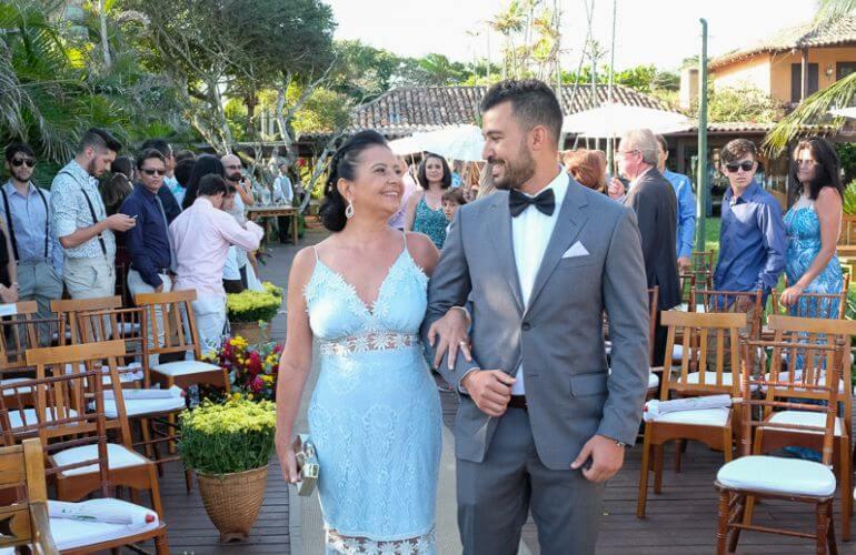 Vestido para mãe da noiva casamento na praia