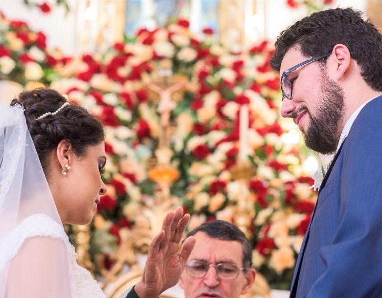 Cerimônia de Casamento Vermelho