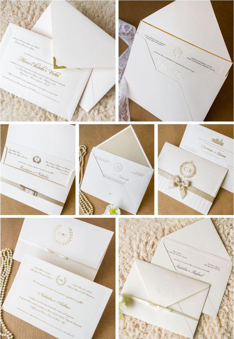 Convites para casamento branco