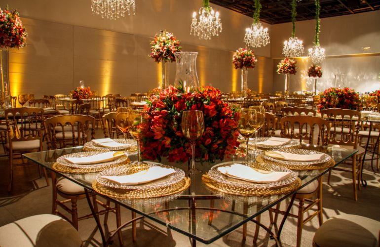 Decoração de Casamento Vermelho e Dourado