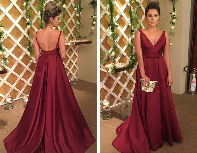 Modelos de vestidos para casamento de noite