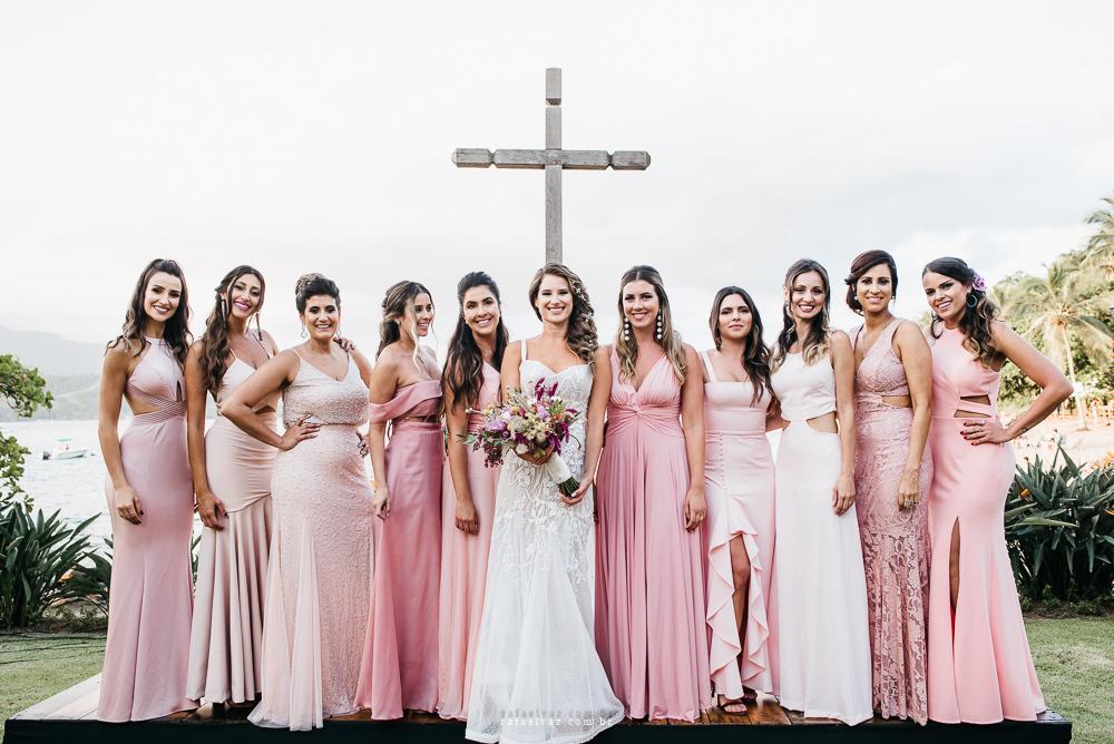Vestido de madrinha rosa