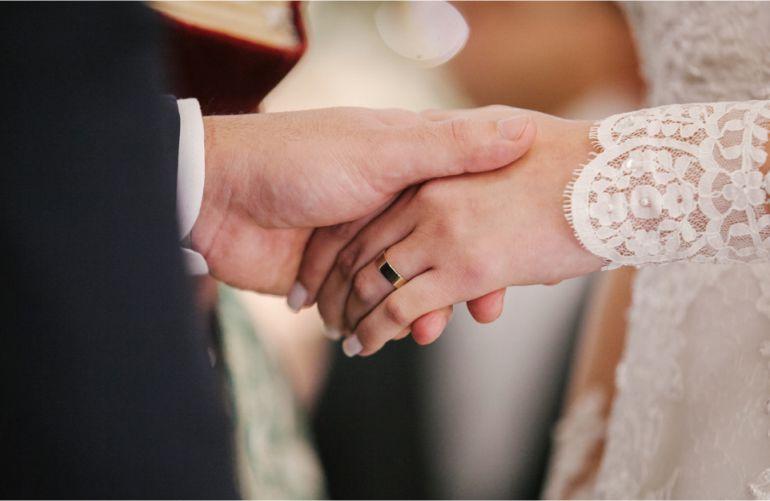 alianças noivos Michelle e Lobert