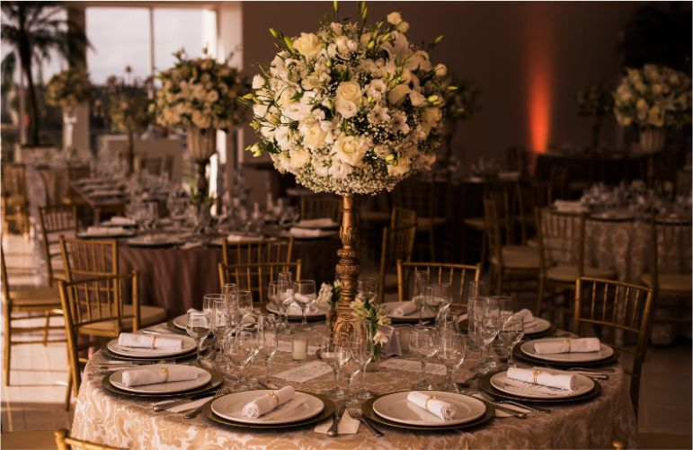 Decoraç u00e3o de Casamento Dourado Dicas e inspirações luxuosas!