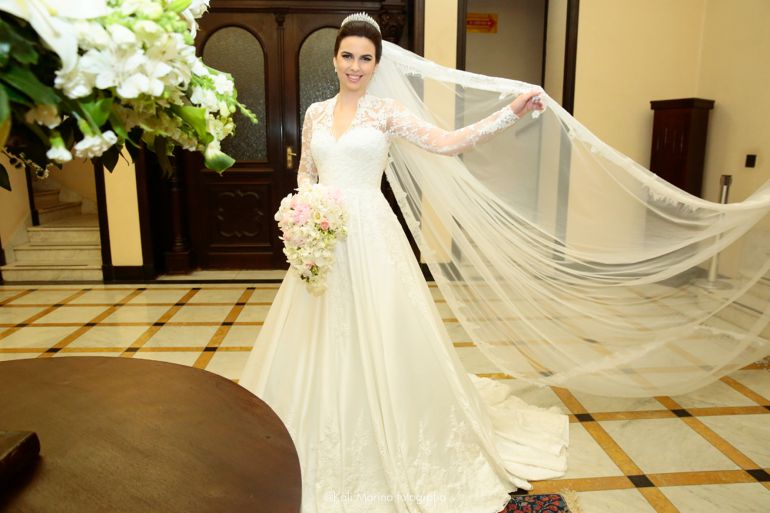 Casamento clássico Branco e Verde