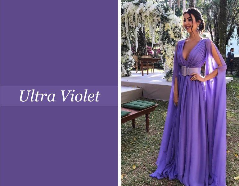 Tendências para vestidos de festa: Ultra Violet