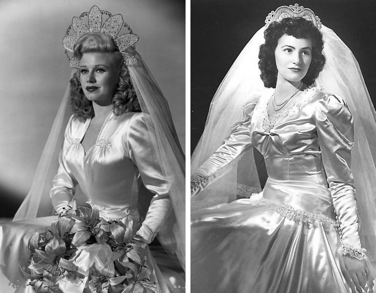 Vestido de noiva anos 40