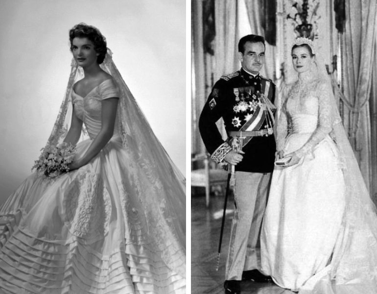 Vestido de noiva anos 50