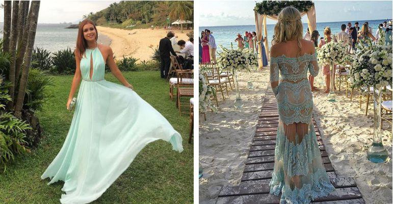 Vestido para casamento na ilha