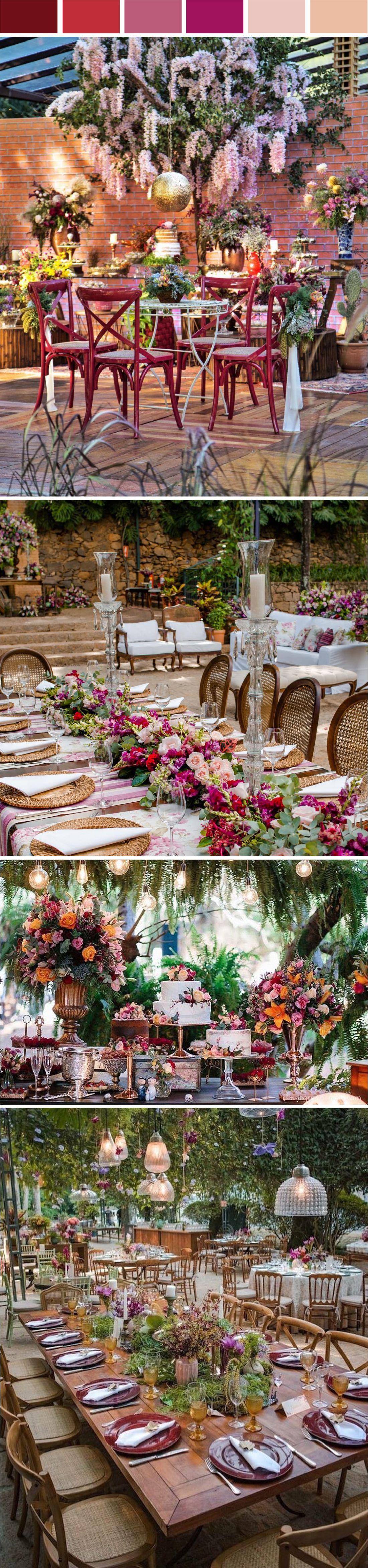 Decoração Mini Wedding Marsala