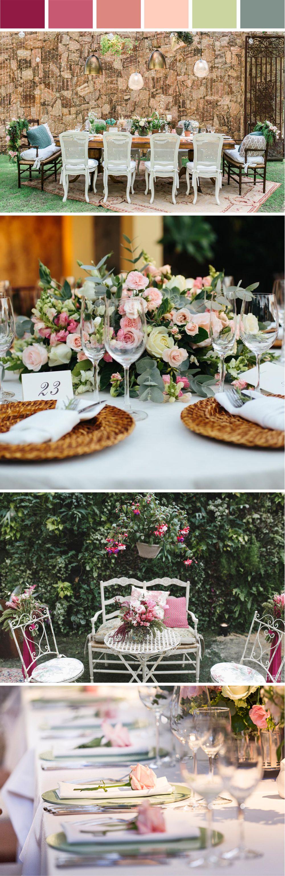 Decoração Mini Wedding Rosa e Verde