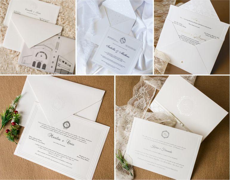 Convites de casamento all white