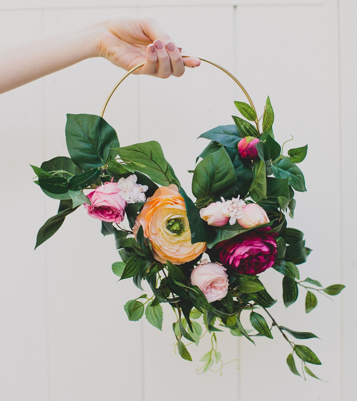 DIY Hoop Bouquet