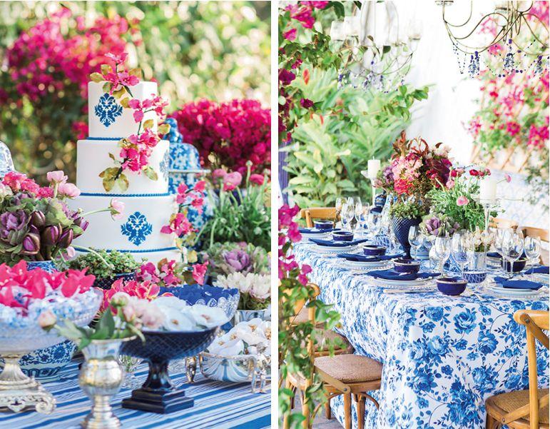 Decoração de Casamento com azulejo português rosa