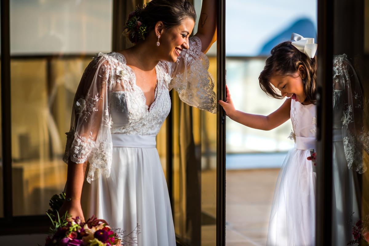 Vestido de noiva praia com mangas