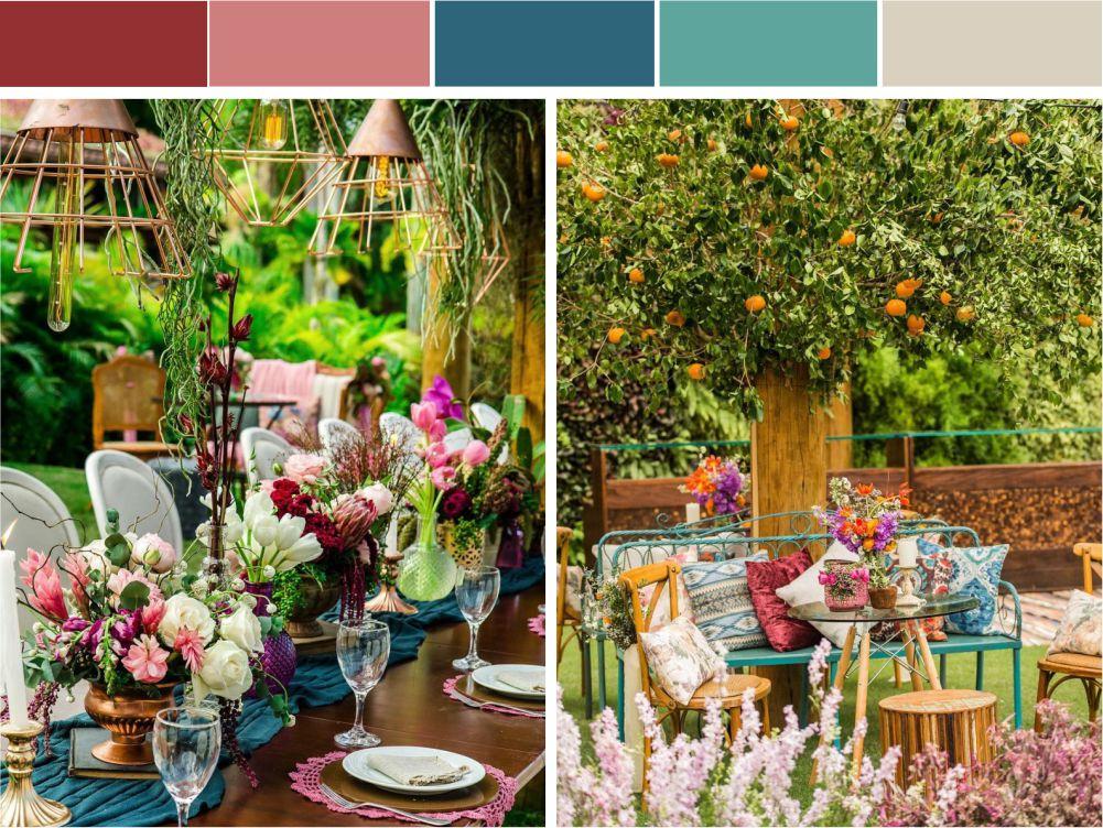 Decoração com cores complementares