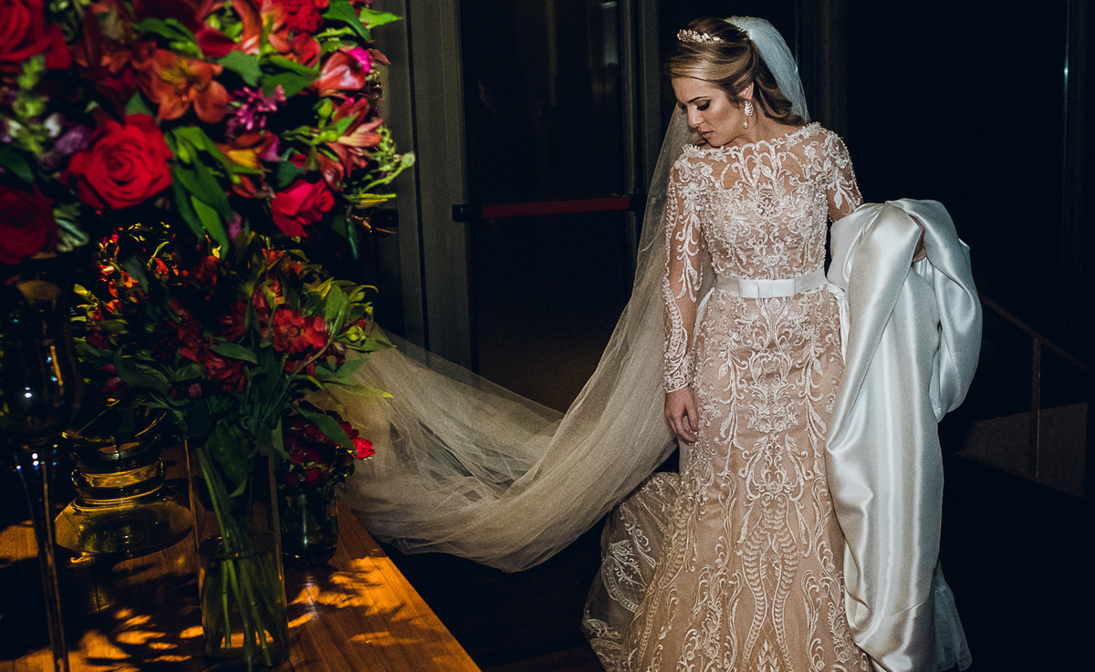 Vestido de noiva com forro nude da Nova Noiva