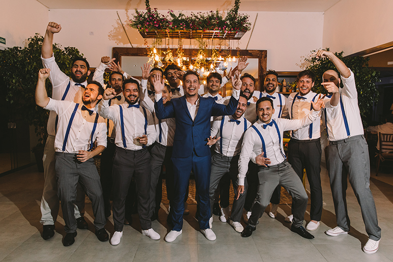 Trajes masculinos para casamento rústico chic