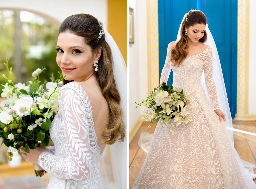 Vestido de noiva para casamento ao ar livre