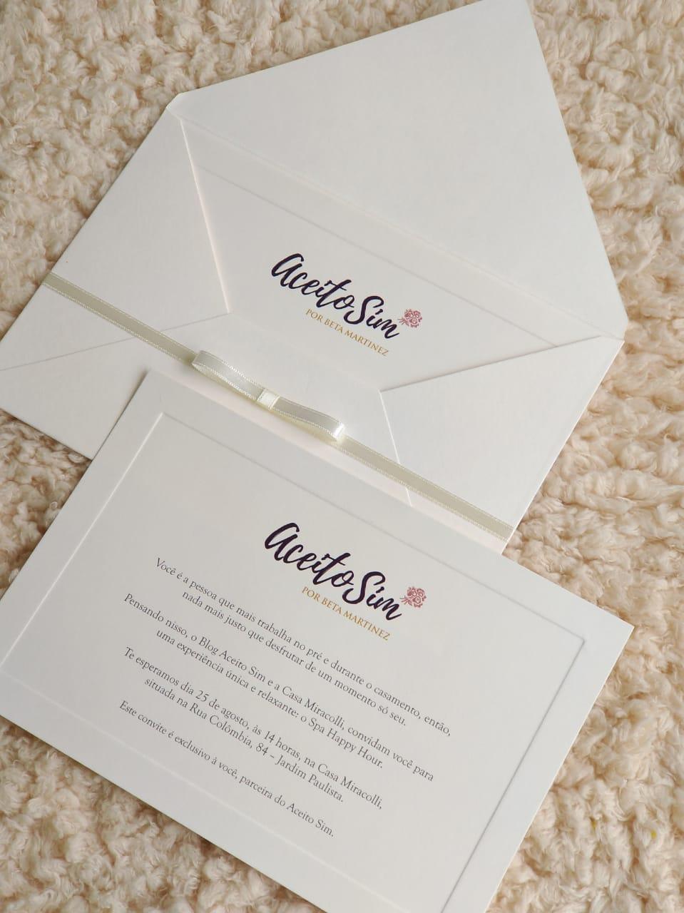 Convite papel e estilo