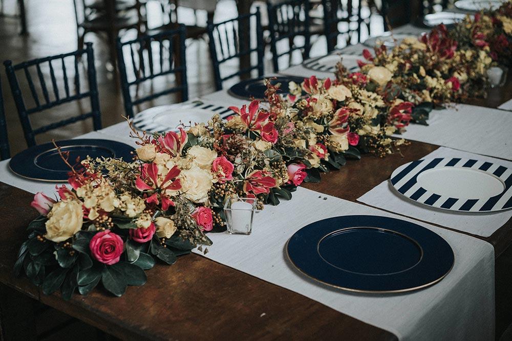 Setorização de mesas de casamento