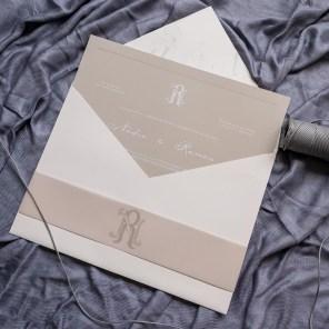 Convites para casamento minimalista