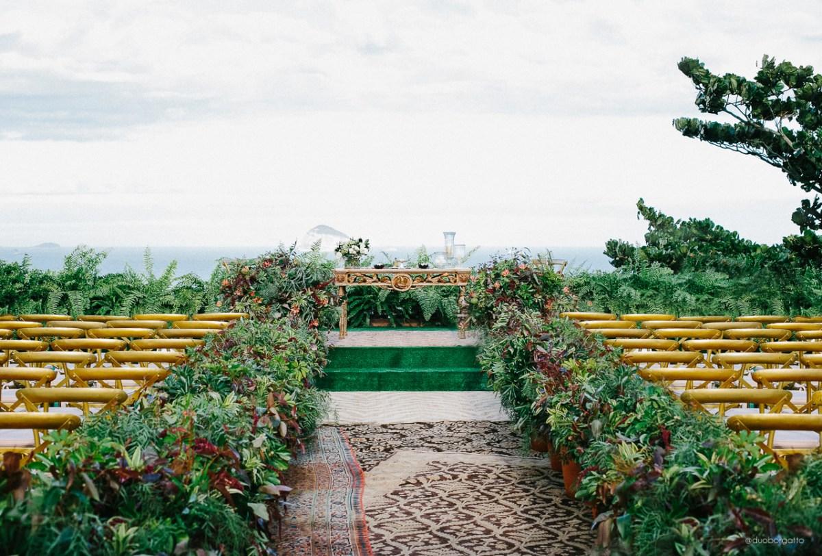 Tapete para casamento: Cerimônia