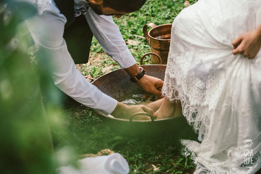 Casamento lava pés
