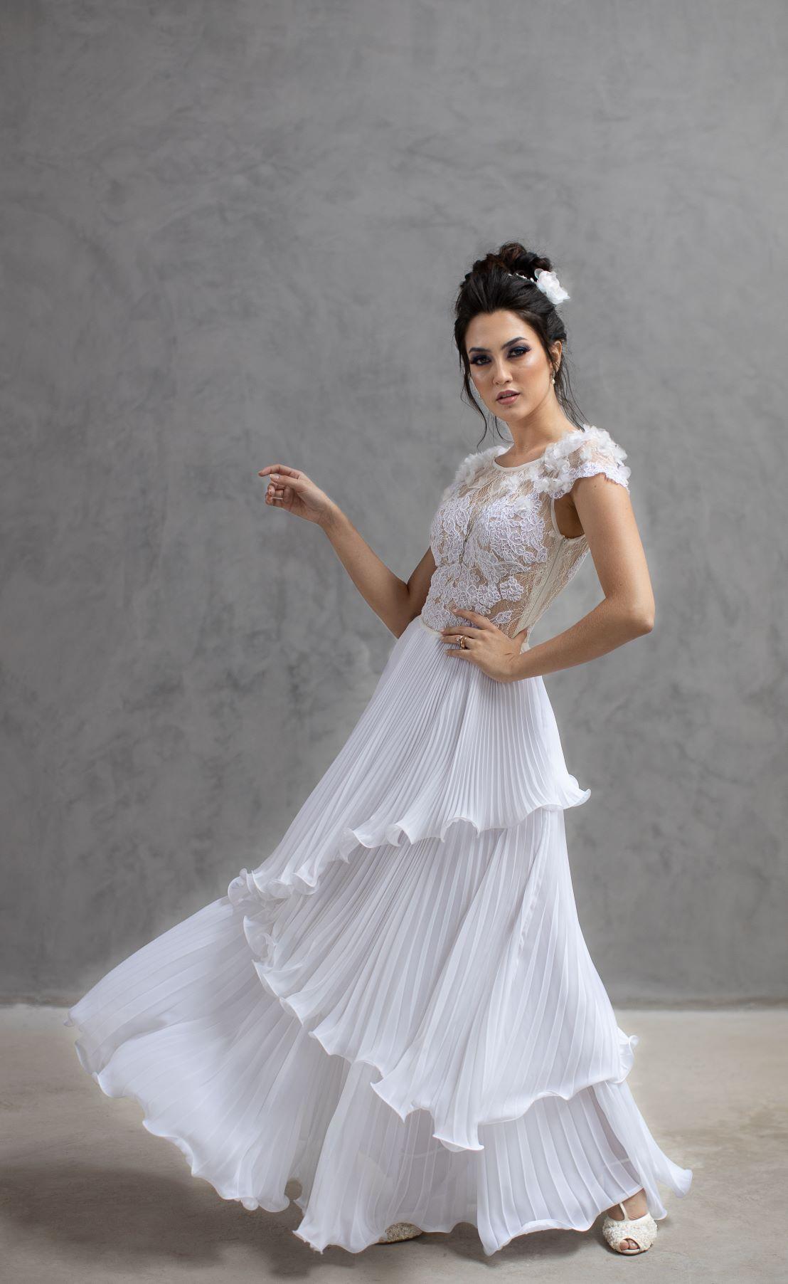 Vestido atelier Danna Morikawa Modelo Sofia