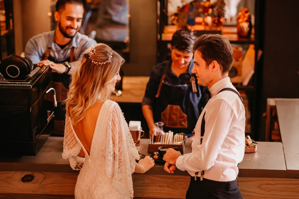 bar de cafe no casamento
